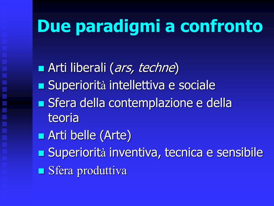 Due paradigmi a confronto
