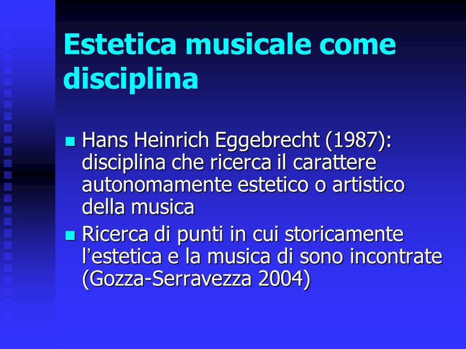 Estetica musicale come disciplina