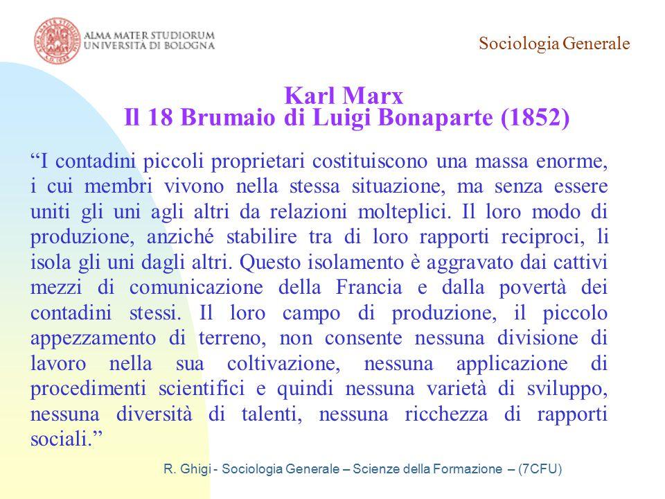 Karl Marx Il 18 Brumaio di Luigi Bonaparte (1852)