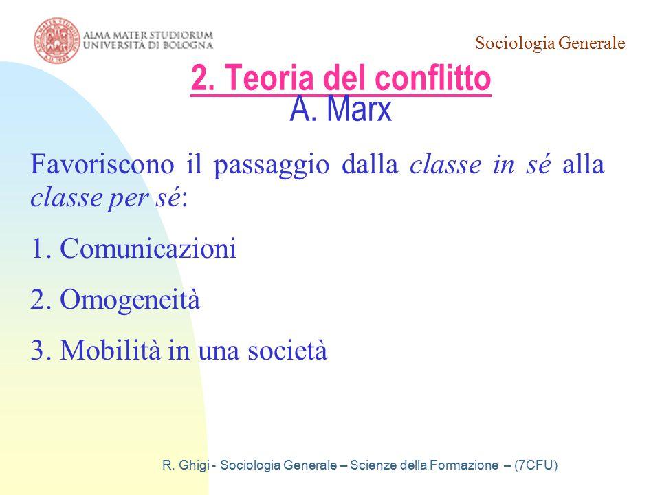 2. Teoria del conflitto A. Marx