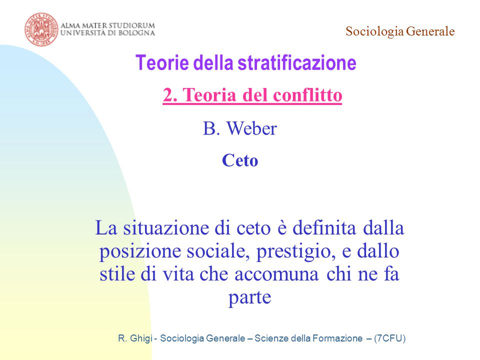 Teorie della stratificazione