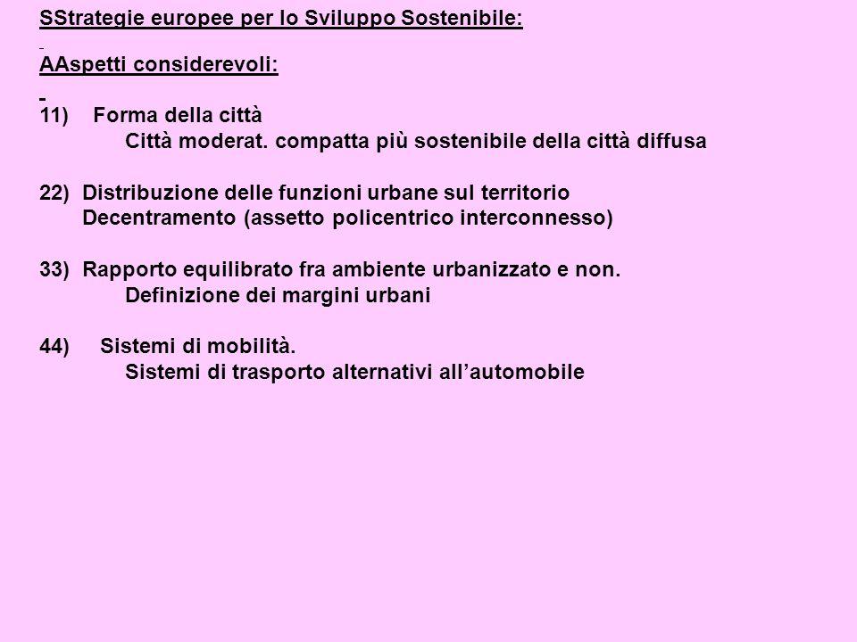 SStrategie europee per lo Sviluppo Sostenibile: