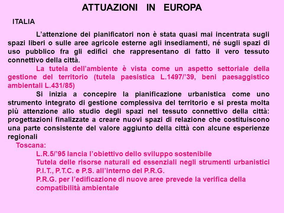 ATTUAZIONI IN EUROPA ITALIA