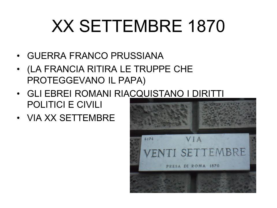 XX SETTEMBRE 1870 GUERRA FRANCO PRUSSIANA