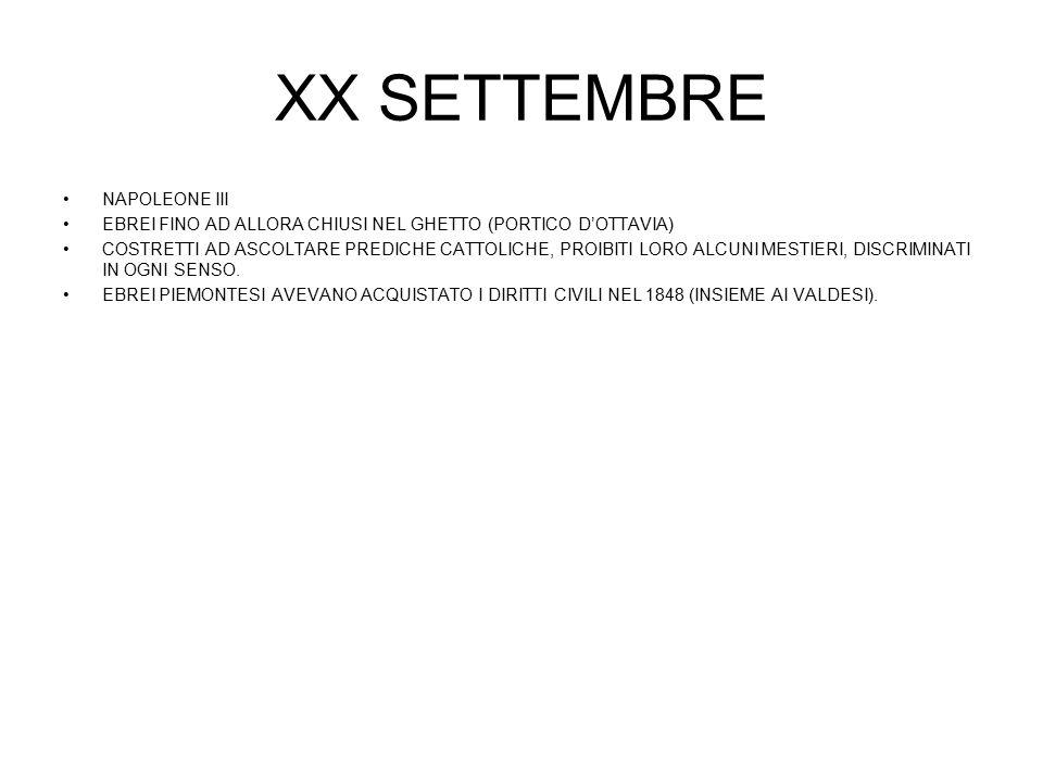 XX SETTEMBRE NAPOLEONE III