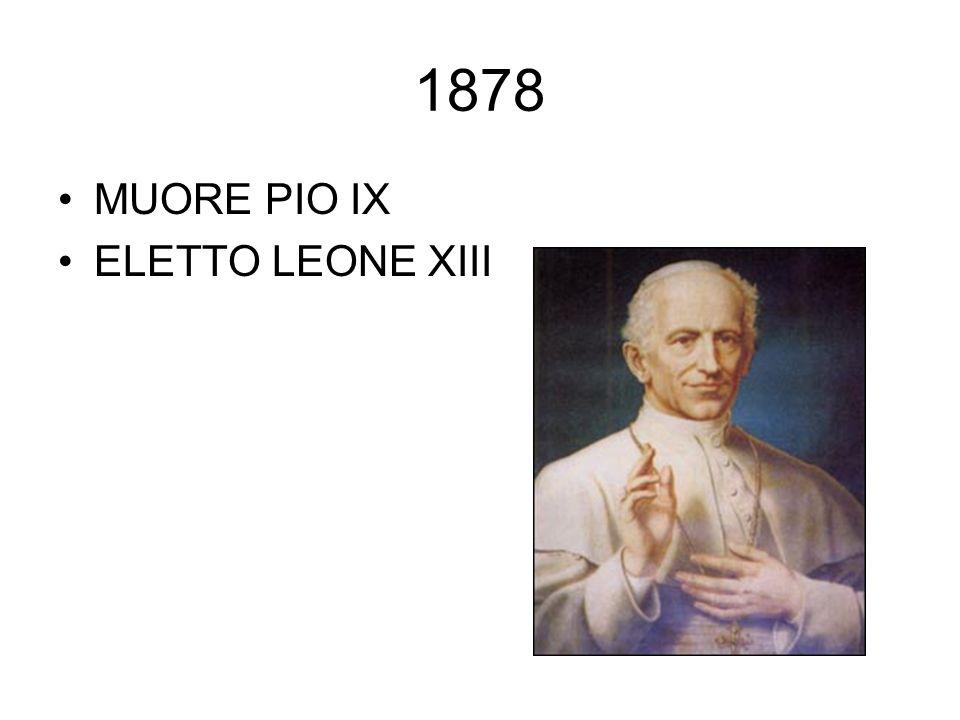 1878 MUORE PIO IX ELETTO LEONE XIII