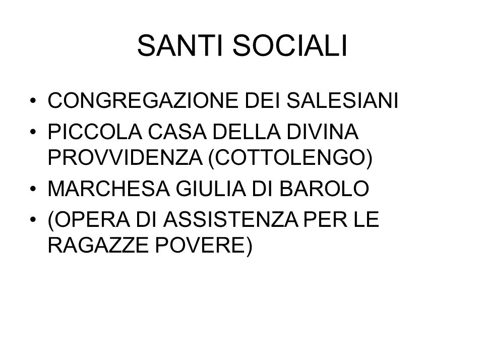 SANTI SOCIALI CONGREGAZIONE DEI SALESIANI