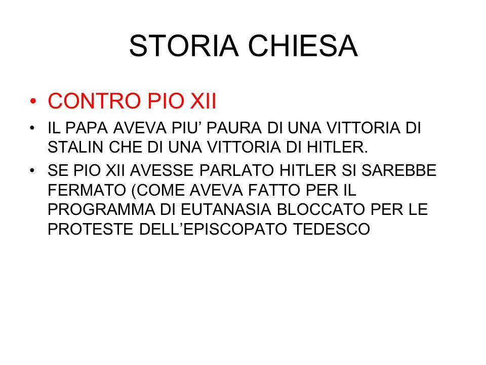 STORIA CHIESA CONTRO PIO XII