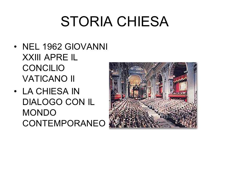 STORIA CHIESA NEL 1962 GIOVANNI XXIII APRE IL CONCILIO VATICANO II