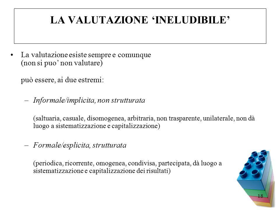 LA VALUTAZIONE 'INELUDIBILE'