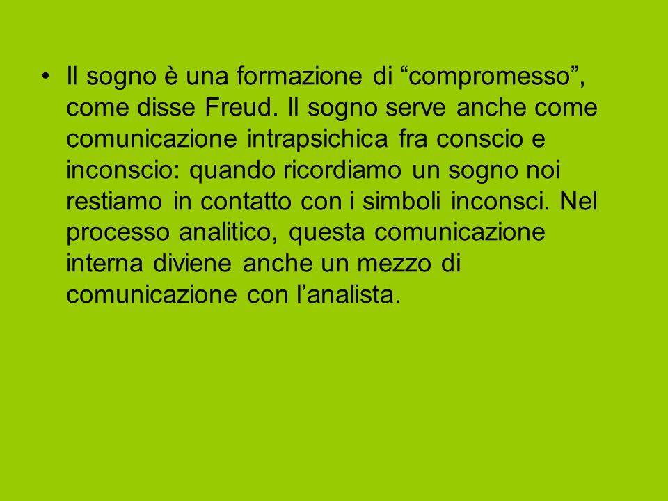 Il sogno è una formazione di compromesso , come disse Freud