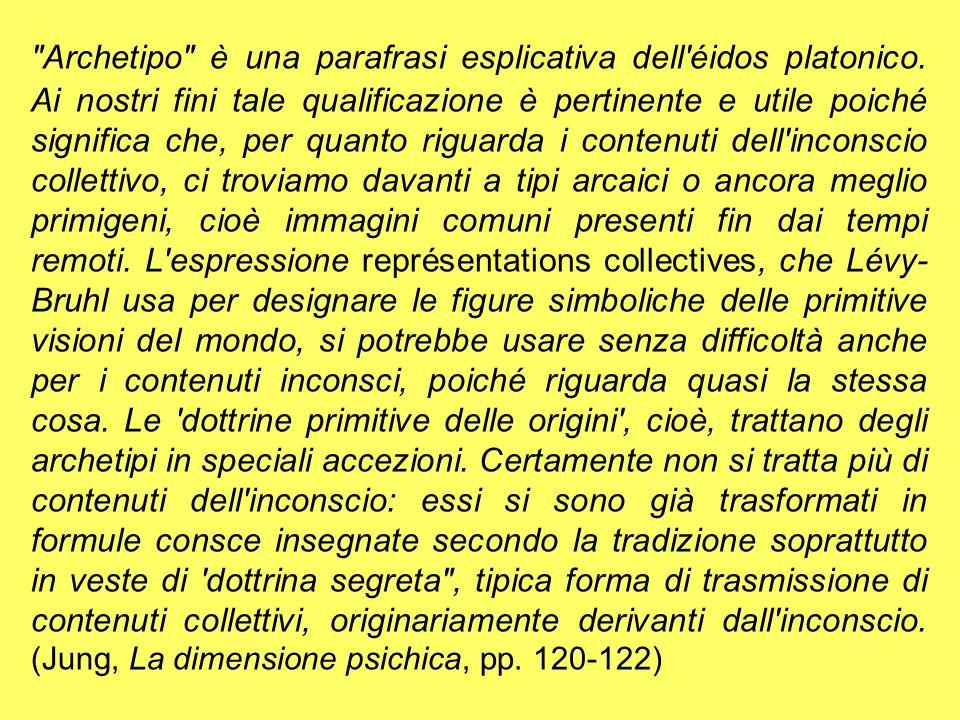 Archetipo è una parafrasi esplicativa dell éidos platonico
