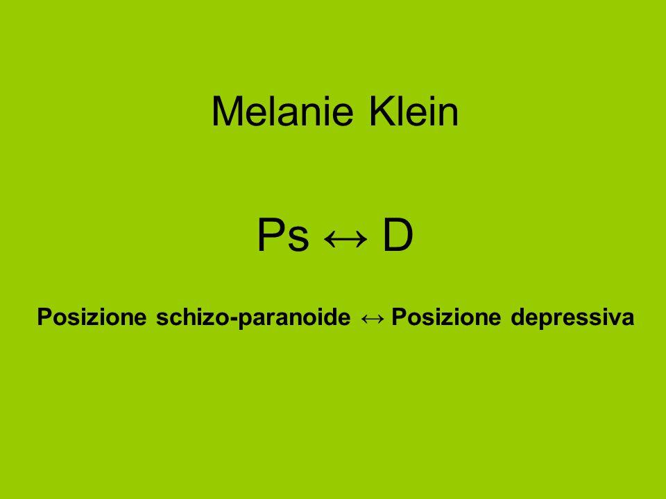 Posizione schizo-paranoide ↔ Posizione depressiva