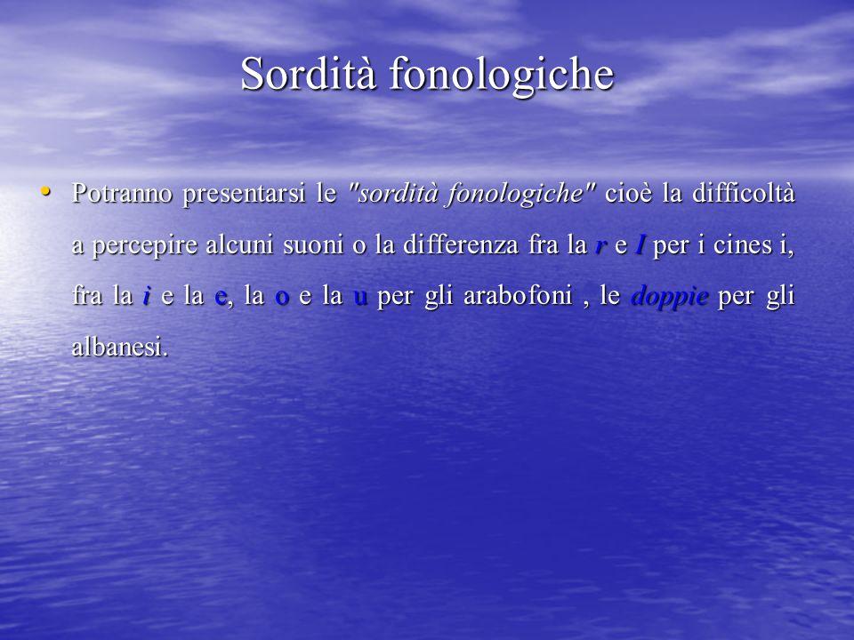 Sordità fonologiche