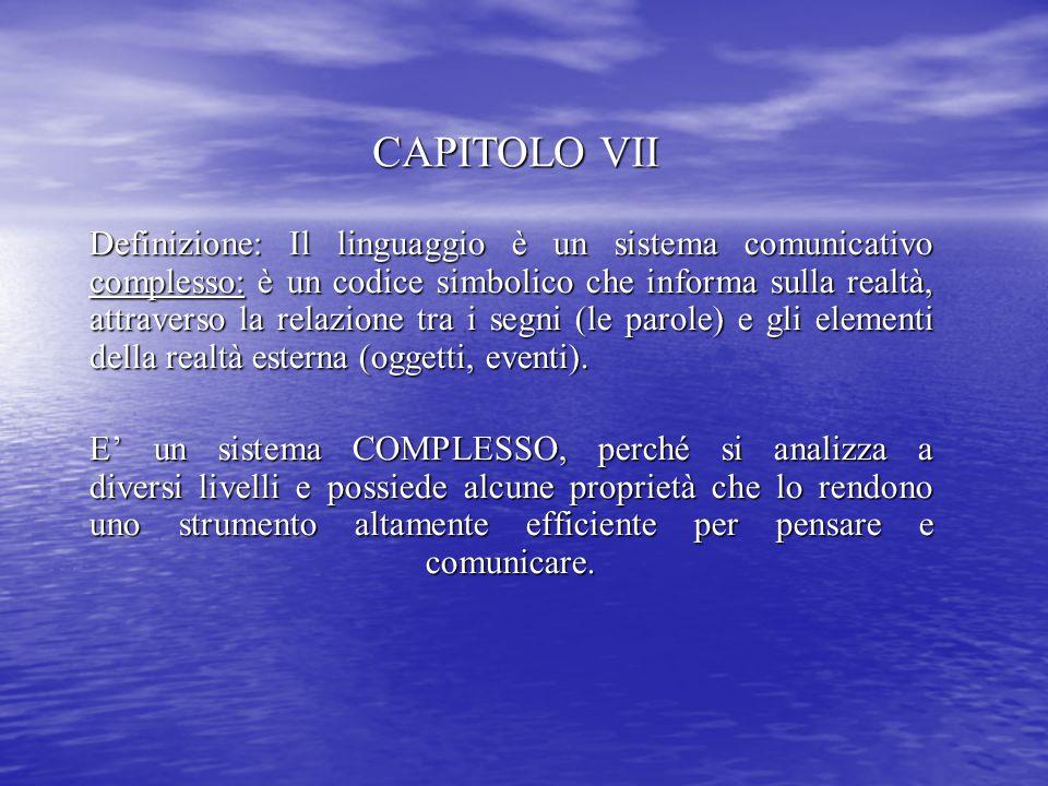 CAPITOLO VII