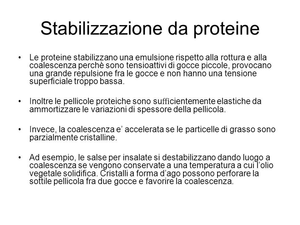 Stabilizzazione da proteine