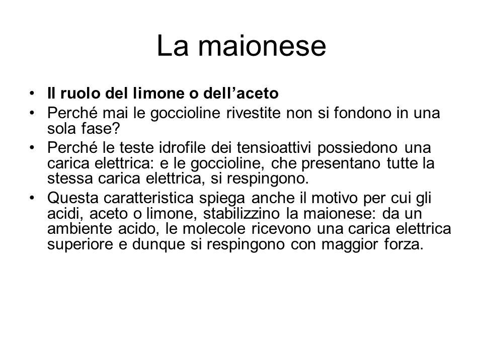 La maionese Il ruolo del limone o dell'aceto