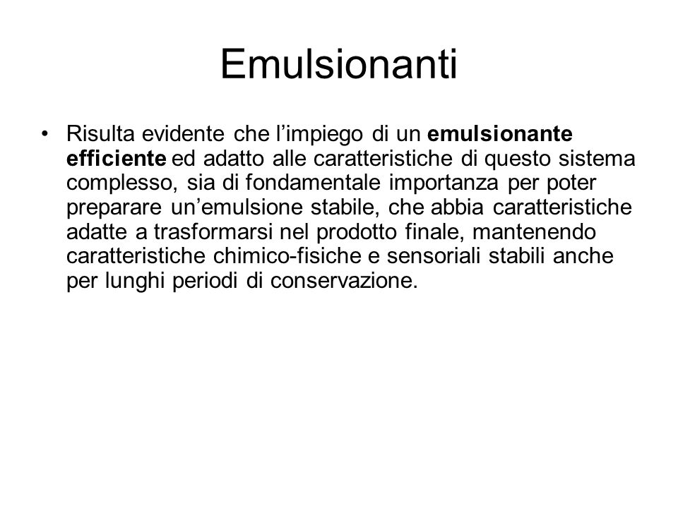 Emulsionanti
