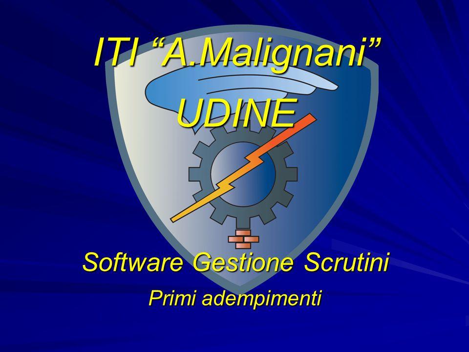 Software Gestione Scrutini Primi adempimenti