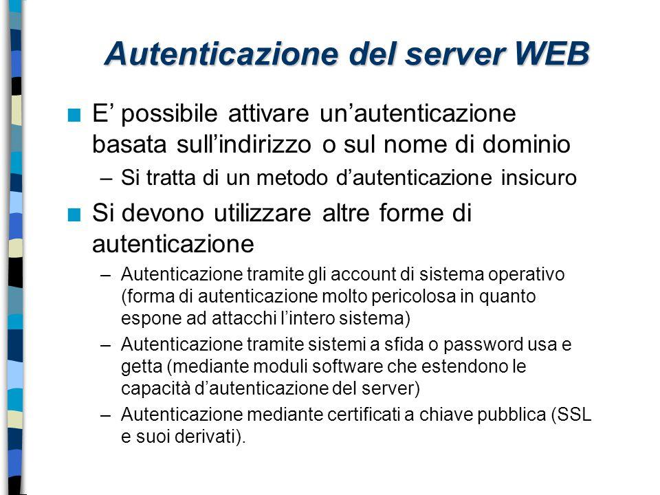 Autenticazione del server WEB