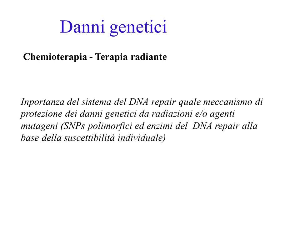 Danni genetici Chemioterapia - Terapia radiante