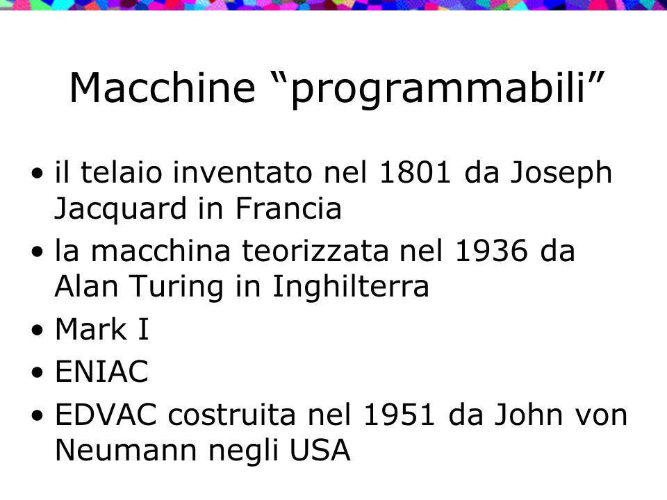 Macchine programmabili