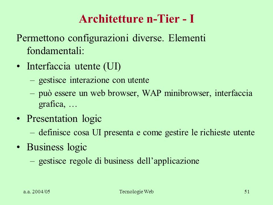 Architetture n-Tier - I