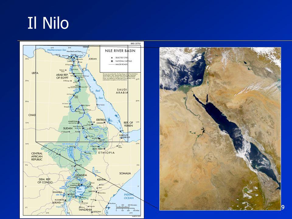 Il Nilo O ancora sul Nilo dove per ben 10 stati.