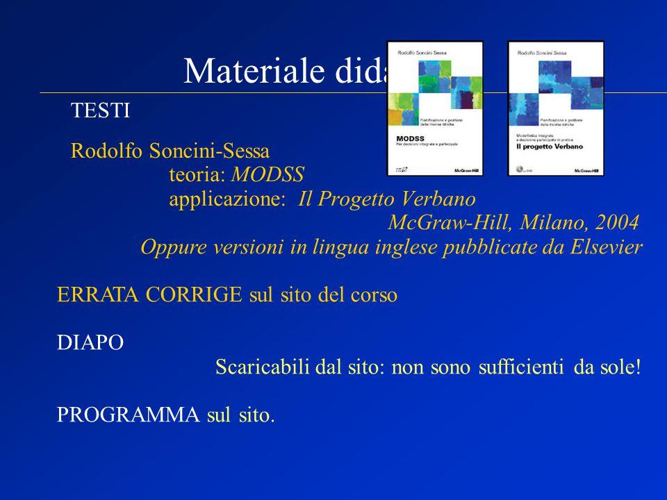 Materiale didattico: TESTI Rodolfo Soncini-Sessa teoria: MODSS
