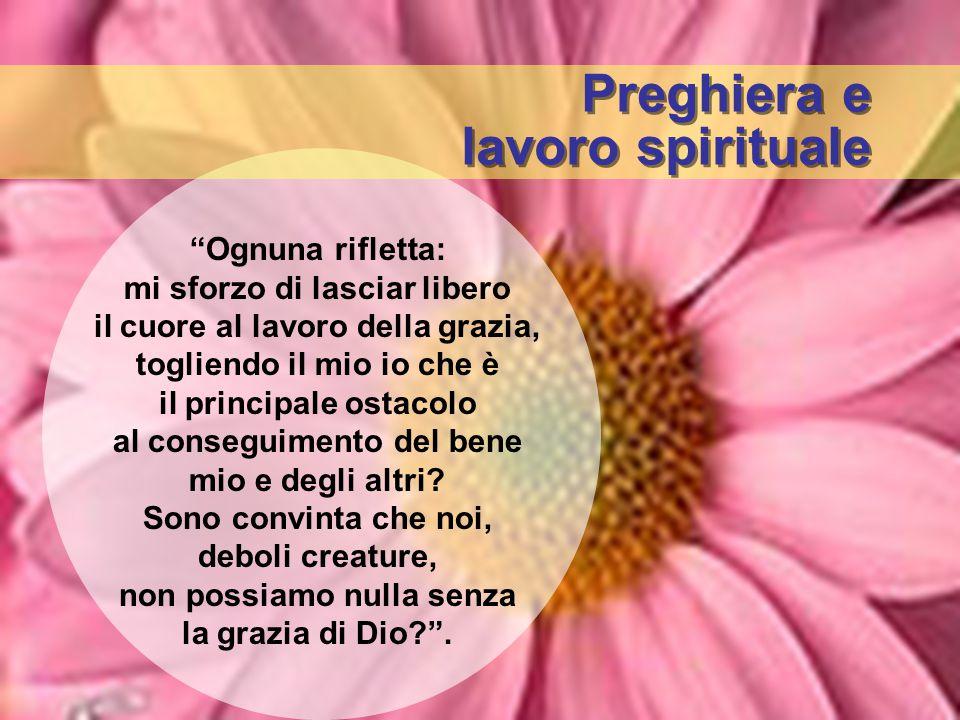 Preghiera e lavoro spirituale