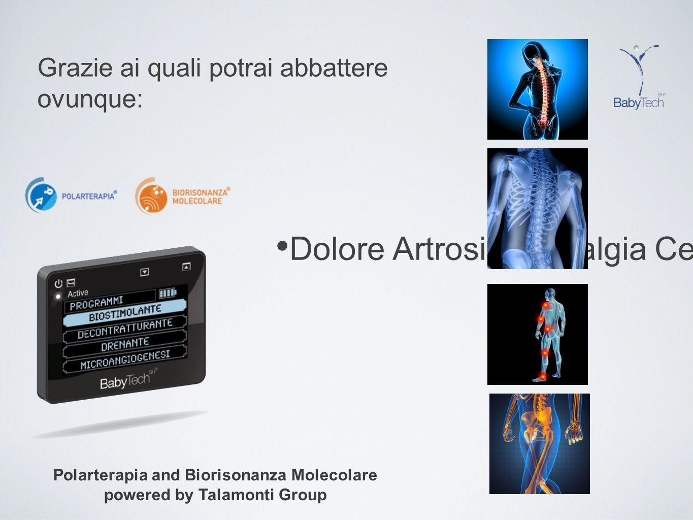 Polarterapia and Biorisonanza Molecolare powered by Talamonti Group