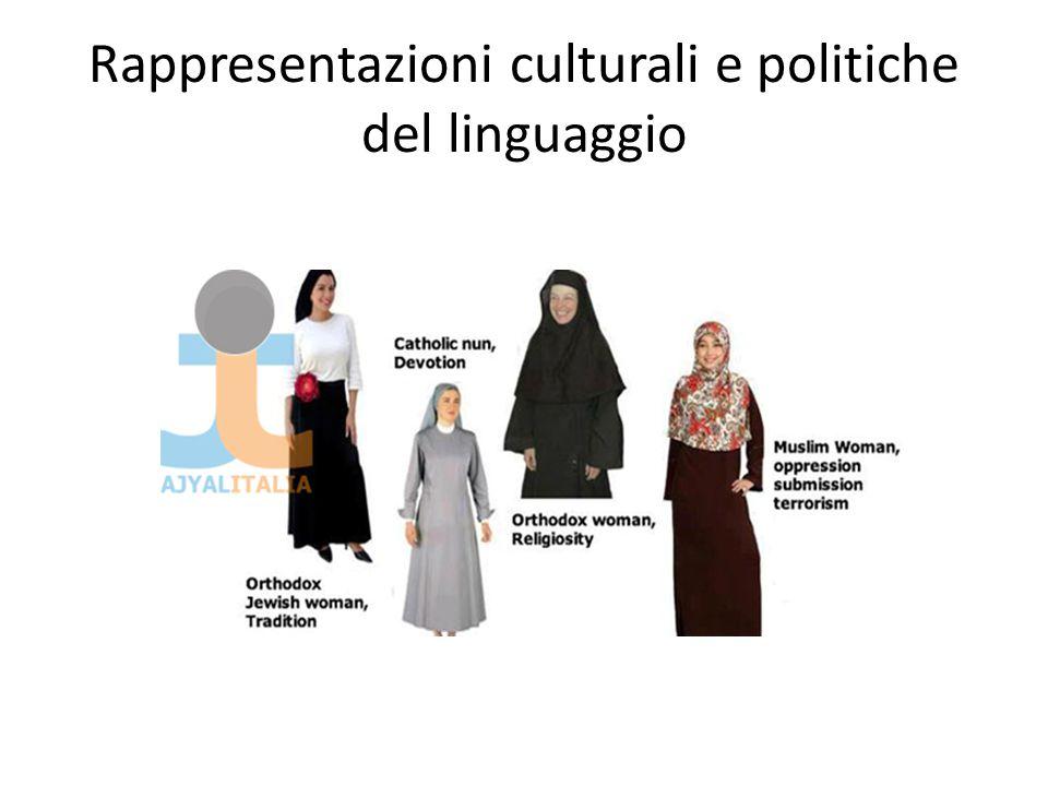 Rappresentazioni culturali e politiche del linguaggio