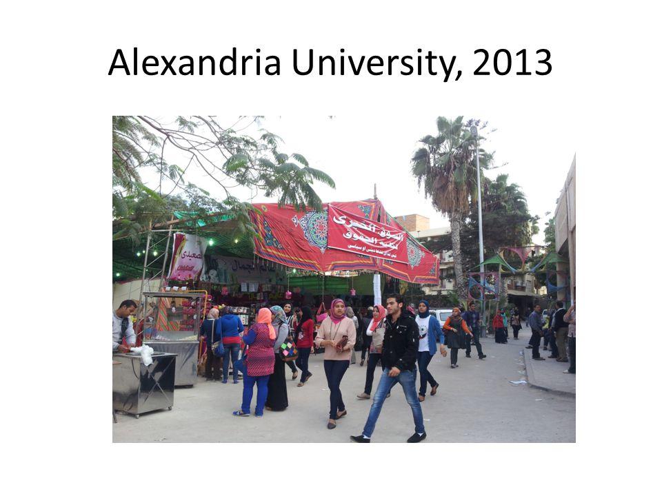 Alexandria University, 2013