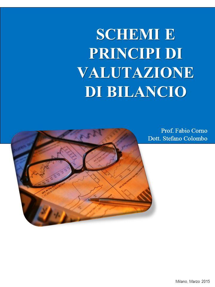 SCHEMI E PRINCIPI DI VALUTAZIONE