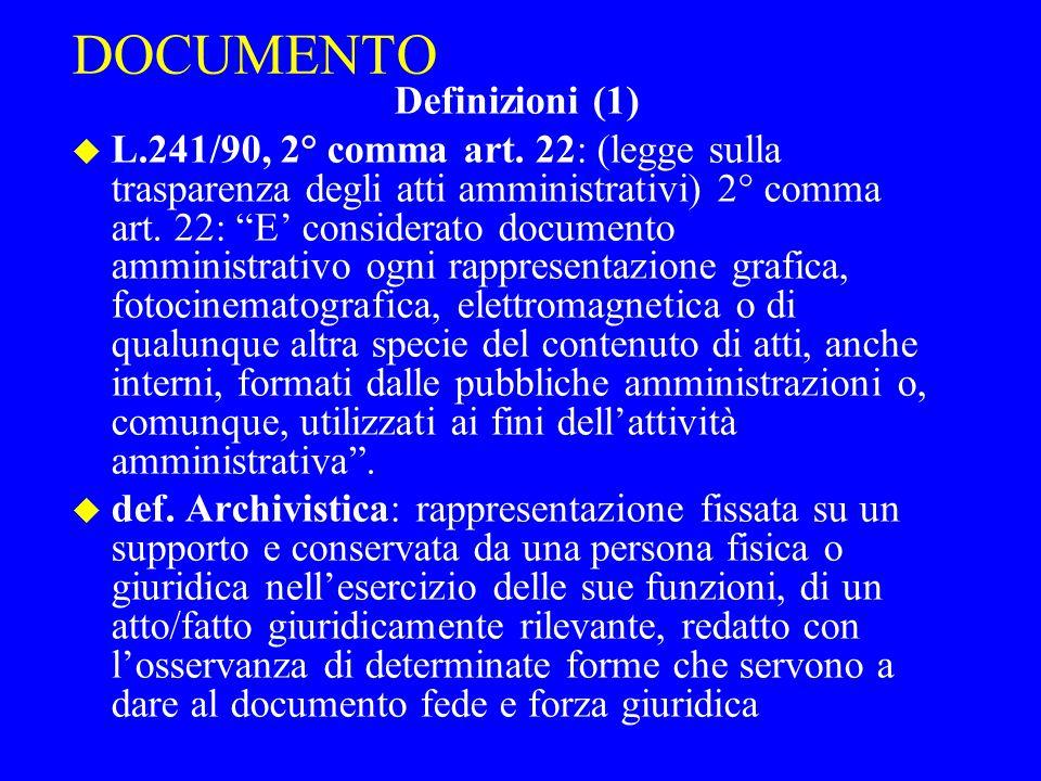 DOCUMENTO Definizioni (1)