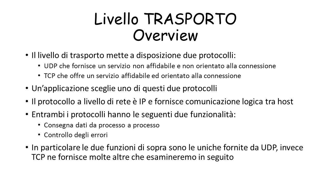 Livello TRASPORTO Overview