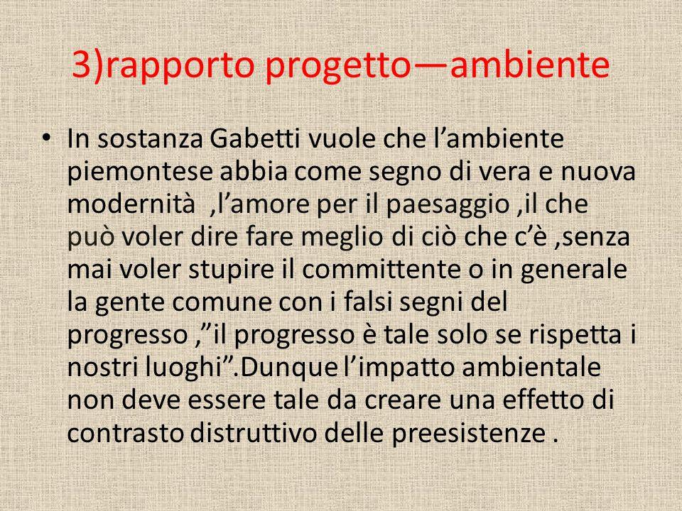 3)rapporto progetto—ambiente