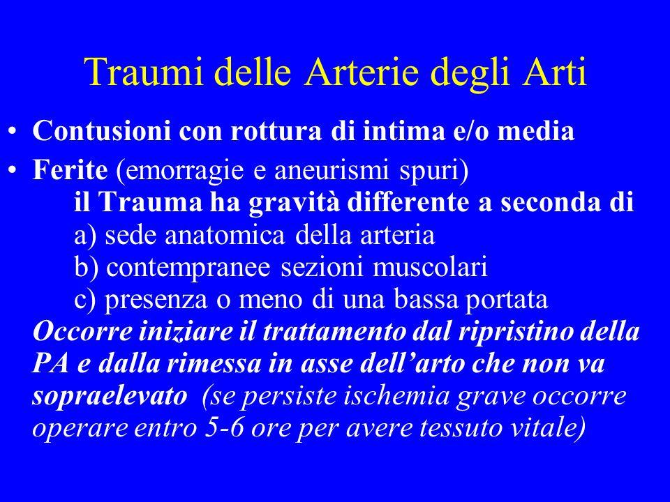 Traumi delle Arterie degli Arti