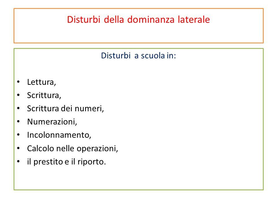 Disturbi della dominanza laterale