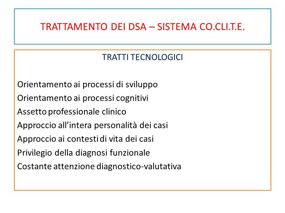 TRATTAMENTO DEI DSA – SISTEMA CO.CLI.T.E.