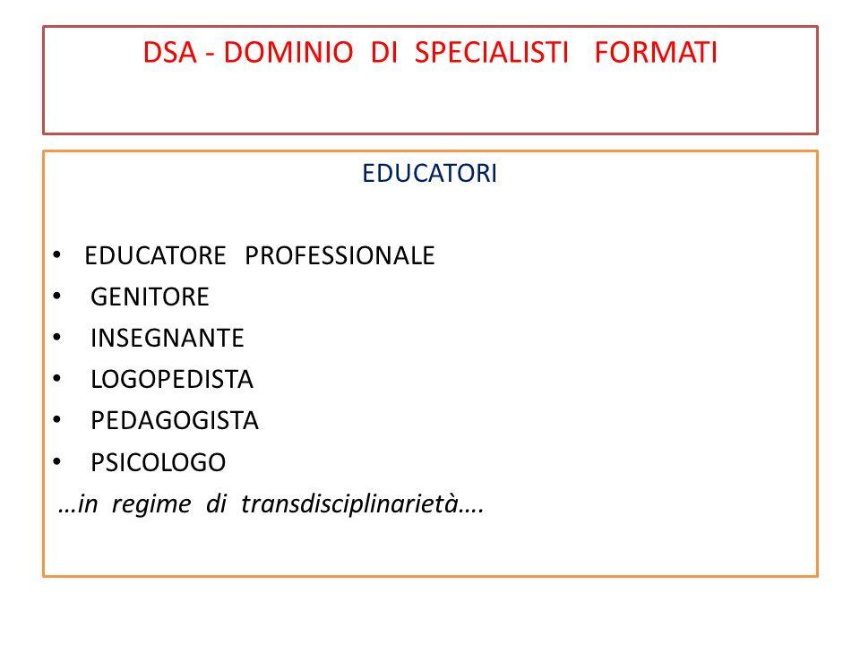 DSA - DOMINIO DI SPECIALISTI FORMATI