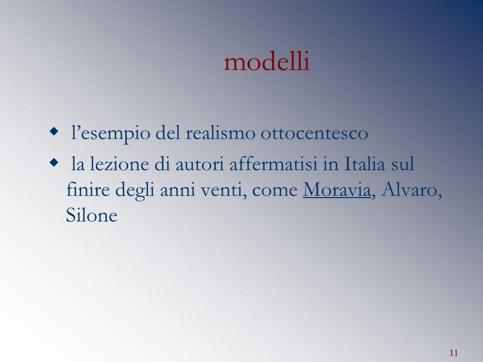 modelli l'esempio del realismo ottocentesco