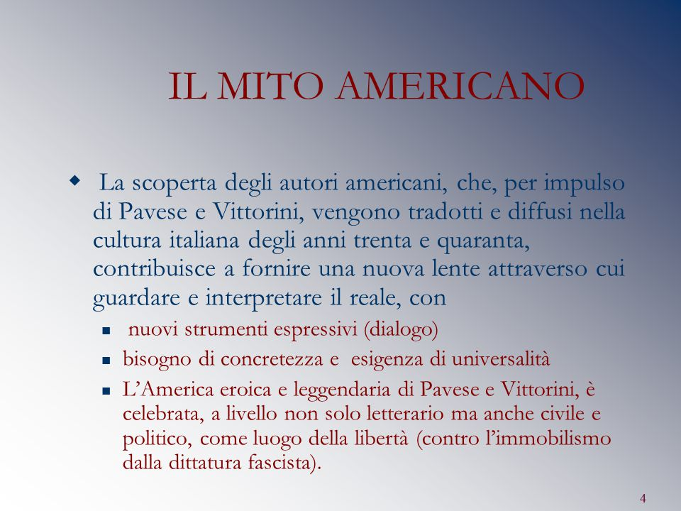 IL MITO AMERICANO