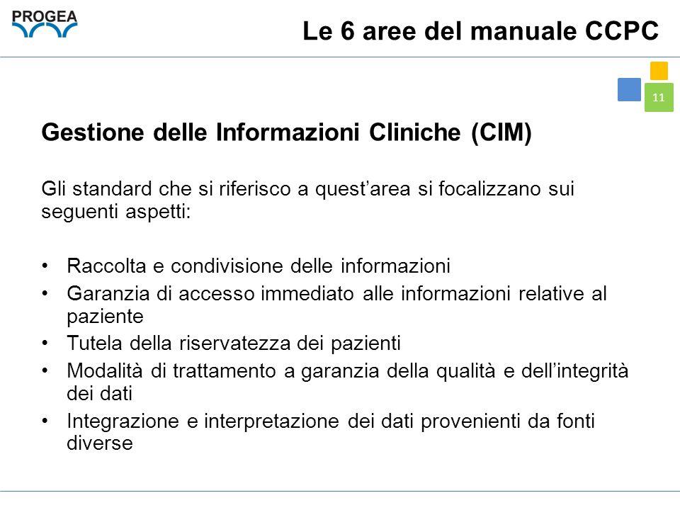Le 6 aree del manuale CCPC