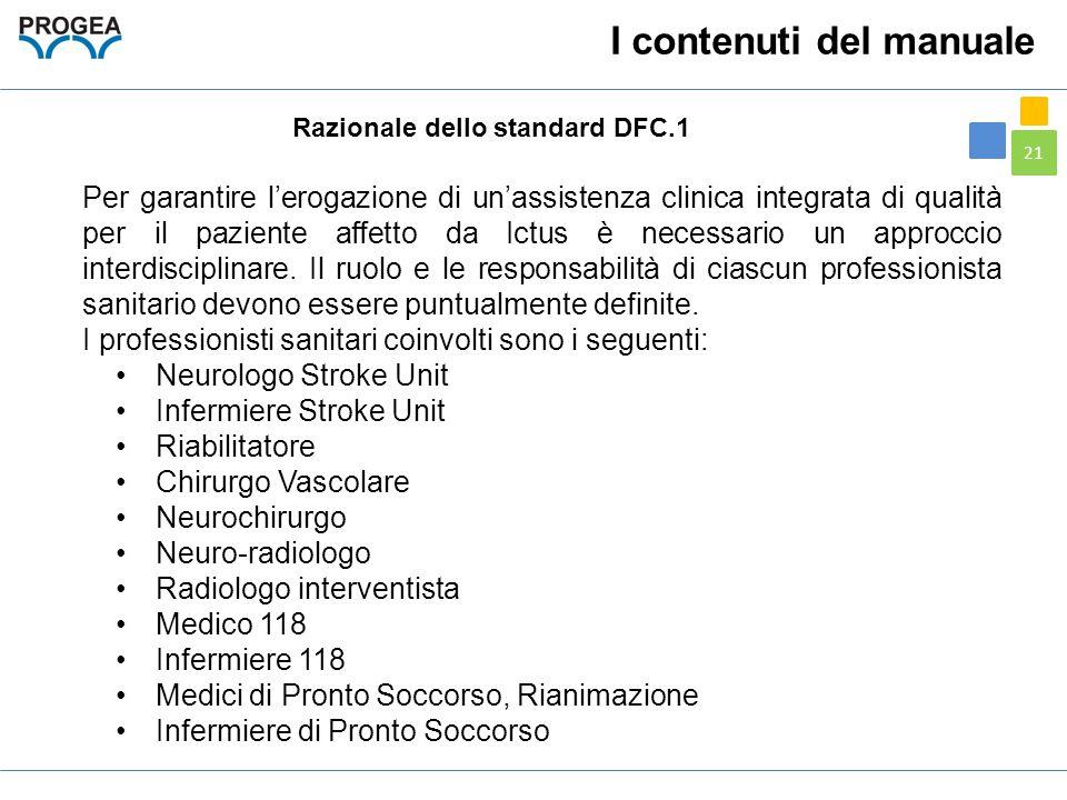 Razionale dello standard DFC.1