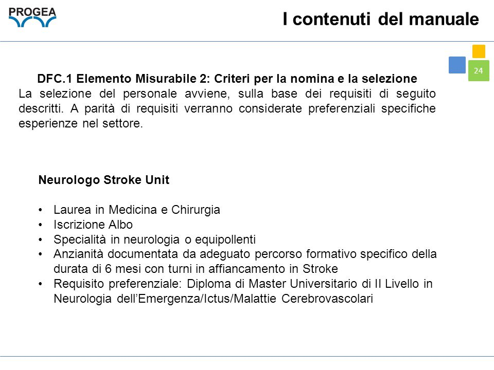 DFC.1 Elemento Misurabile 2: Criteri per la nomina e la selezione