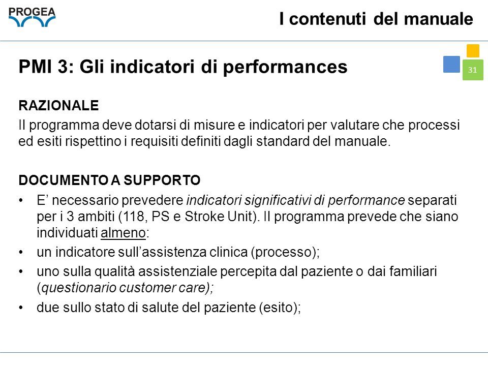 PMI 3: Gli indicatori di performances