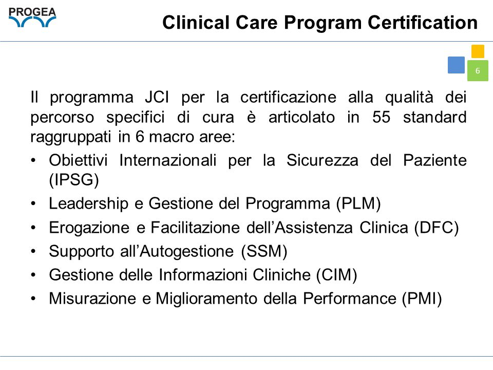 Clinical Care Program Certification