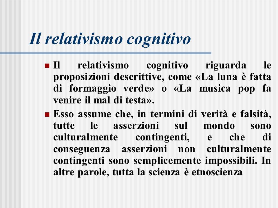 Il relativismo cognitivo