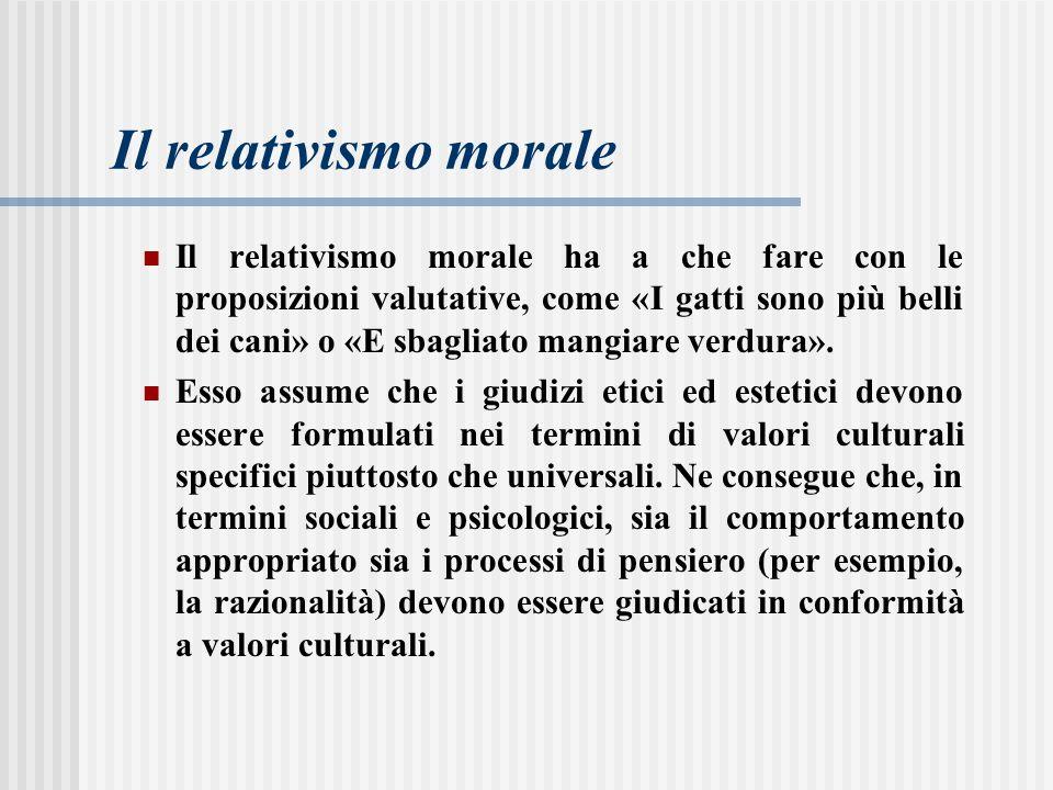 Il relativismo morale